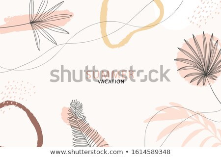 vector illustration on a summer holiday theme with sunglasses e stock photo © articular