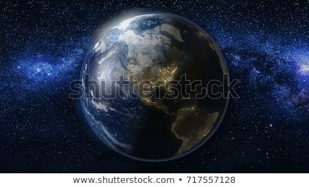 Сток-фото: земле · пространстве · ночь · юг · север · Америки