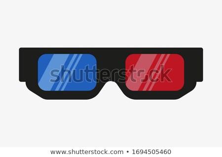 óculos · 3d · cinema · abstrato · tornar · papel · fundo - foto stock © anadmist