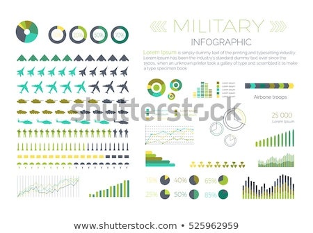 military infographic set stock photo © robuart