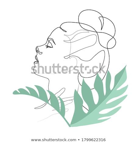 セクシーな女の子 · 美しい · 長髪 · 紫色 · 顔 · セクシー - ストックフォト © ussr