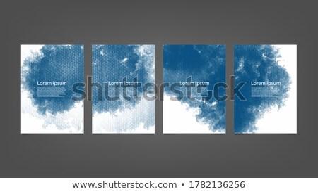 Zuiver zwarte donkere visitekaartje sjabloon vector Stockfoto © SArts