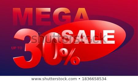 Sezon sprzedaży zniżka talon projektu piękna Zdjęcia stock © SArts
