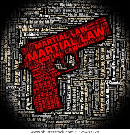 Militaire woord krijger tonen krijgsmacht Stockfoto © stuartmiles