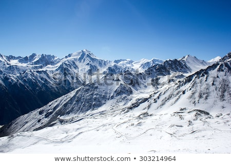 Paisagem neve montanhas blue sky branco nuvens Foto stock © bbbar