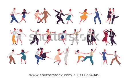 illustration of couple dancing stock photo © m_pavlov