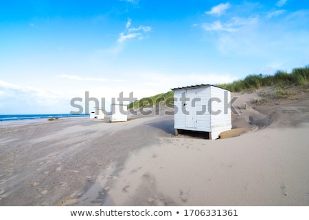 Small red and white striped hut Stock photo © Klinker