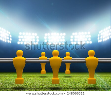 Floodlit Stadium With Foosball Players Stock photo © albund