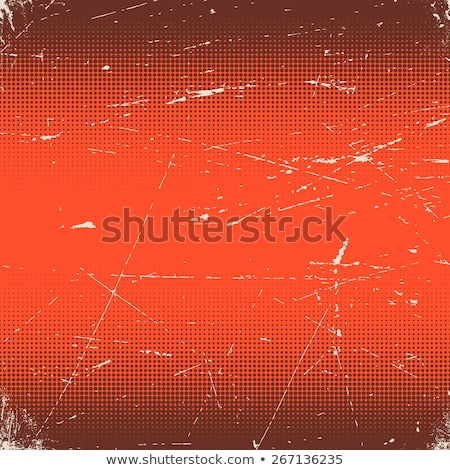 Old red scratched card with halftone gradient Stock photo © SwillSkill