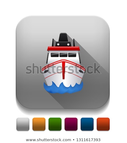 Podwodny długo cień stylu wektora proste Zdjęcia stock © biv
