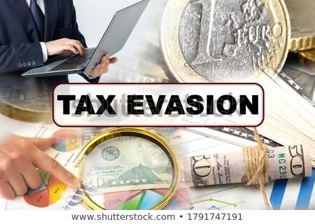 Iş gelir vergi fotoğraf kolaj gri Stok fotoğraf © stevanovicigor