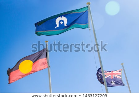 Australian Aboriginal Flag Stock photo © Bigalbaloo