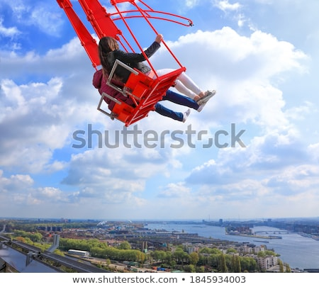 swing high above with a view of amsterdam stock photo © hofmeester