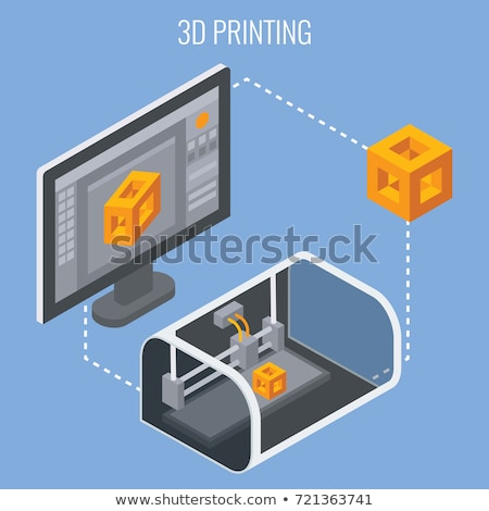 Fabrico processo 3D mecanismo dourado metálico Foto stock © tashatuvango