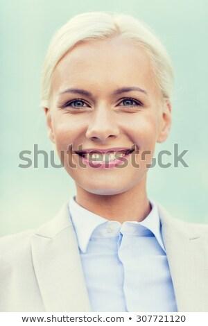 красивой секретарь женщину деловой женщины сидят служба Сток-фото © ocskaymark