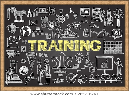 Business Skills Concept. Doodle Icons on Chalkboard. Stock photo © tashatuvango