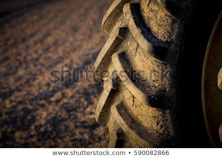 トラクター タイヤ 黒 ストックフォト © njnightsky