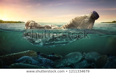 Bottle on the shore. stock photo © spanishalex