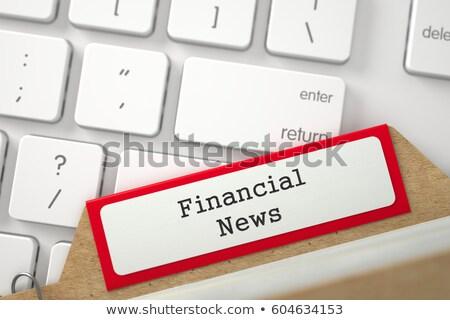 Index Card Financial News. 3D. Stock photo © tashatuvango