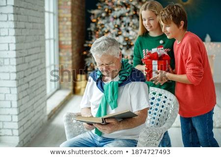 деда целоваться внук вечеринка семьи любви Сток-фото © IS2