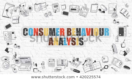 Multicolor Marketing Research on White Brickwall. Doodle Style. Stock photo © tashatuvango