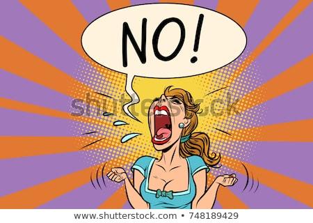 no furious screaming woman stock photo © rogistok
