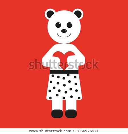 Menina 14 teddy criança segurança Foto stock © IS2