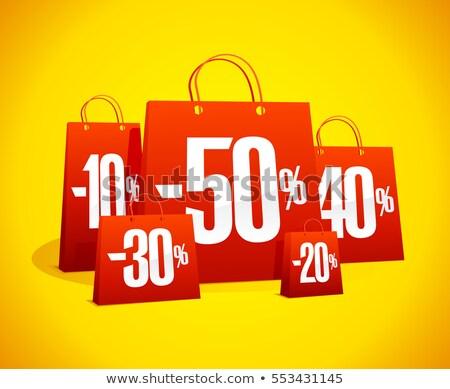 Satış çanta kâğıt arka plan alışveriş hediye Stok fotoğraf © martin33