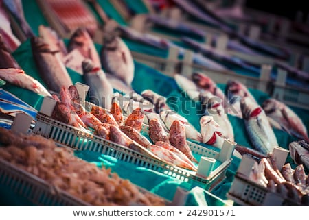 vers · vis · markt · Turkije · voedsel - stockfoto © artjazz