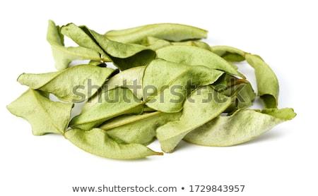 сушат извести листьев цитрусовые белый пластина Сток-фото © HJpix
