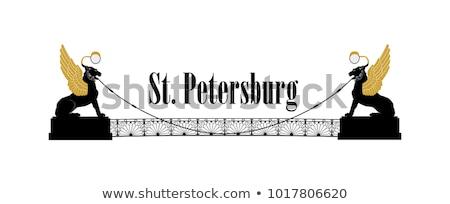 St. Petersburg city symbol, Russia. Winged lions bridge Russian Landmark icon Stock photo © Terriana