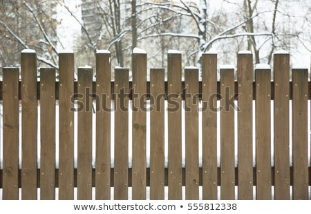 A snow covered fence    stock photo © Kidza