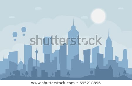 city scape silhouette / clouds view  Stock photo © Taiga