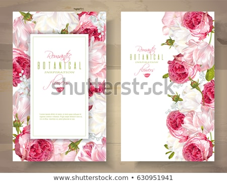 Floral shop banner with flower bouquets stock photo © studioworkstock