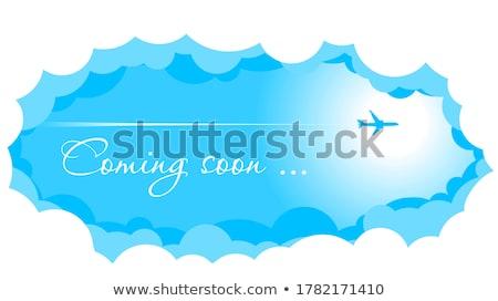 飛行機 飛行 行 雲 イラストレーター デザイン ストックフォト © alexmillos
