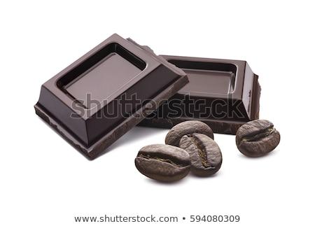 çikolata kahve çekirdeği gıda kahve çikolata arka plan Stok fotoğraf © M-studio