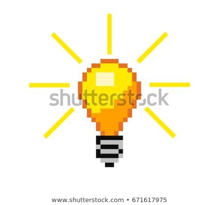 Ampul piksel sanat örnek mozaik büyük Stok fotoğraf © lenm