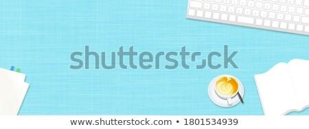 billentyűzet · zárt · kilátás · laptop · technológia · ír - stock fotó © tashatuvango
