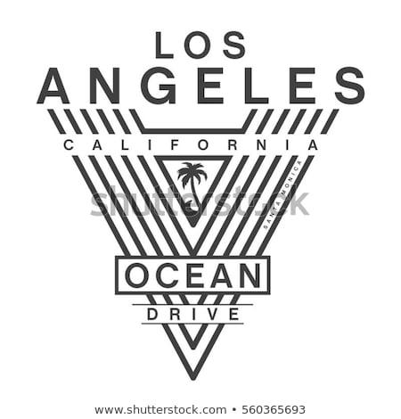 Калифорния спорт футболки типографики дизайна носить Сток-фото © Andrei_