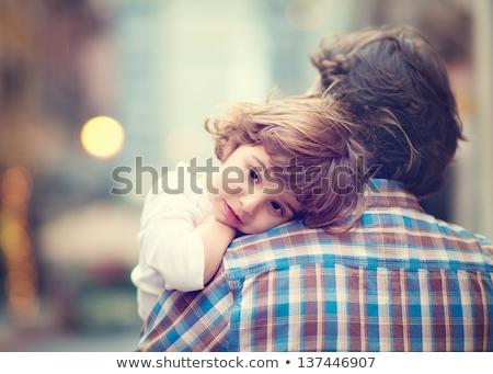 Kislány pihen lány gyermek alszik szőr Stock fotó © IS2