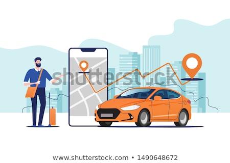 icono · taxi · eps · negocios · diseno · signo - foto stock © djdarkflower