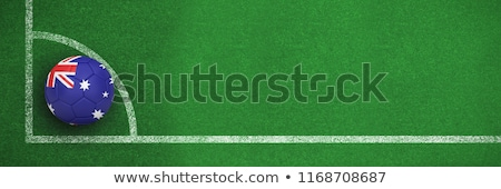 Futbol Avustralya renkler siyah beyaz futbol köşe Stok fotoğraf © wavebreak_media