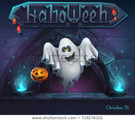 Spooky Ghost Dark Game Template Stock photo © bluering
