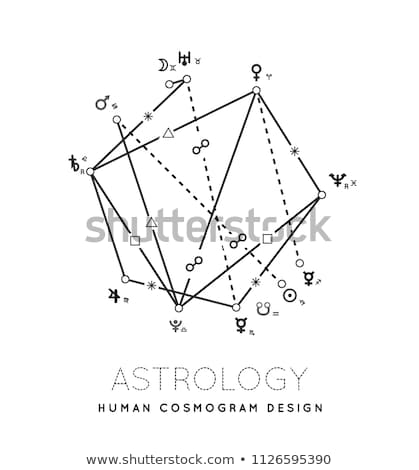 astrology cosmogram vector background stock photo © m_pavlov