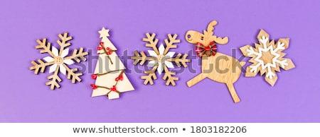 クリスマス スノーフレーク 装飾 星 幸せ グリーティングカード ストックフォト © odina222