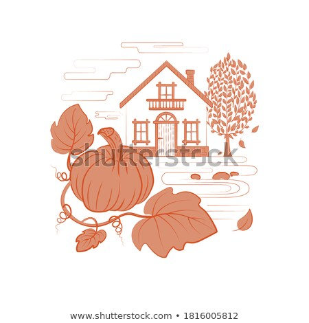 simple · maisons · pâle · rose - photo stock © yopixart