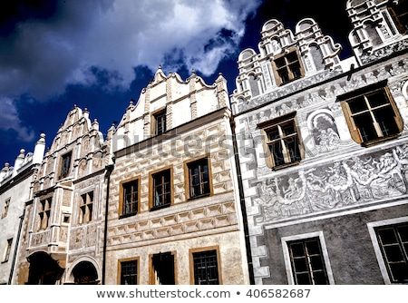 detail of renaissance house, Slavonice, Czech Republic Stock photo © phbcz