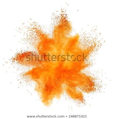 Explosión naranja polvo humo fuego resumen Foto stock © NeonShot