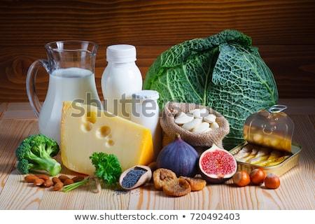 Contenant calcium fruits fond art médecine Photo stock © bluering