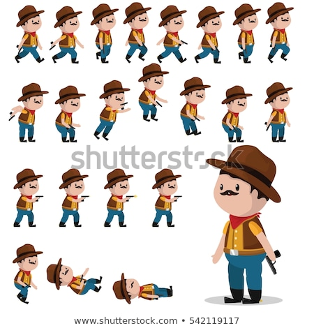 A sprite sheet walking game template Stock photo © bluering